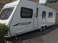 Lunar Delta RS twin axle caravan for sale. 2010 model. Interior has never been used.