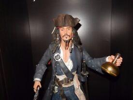 18 Inch Captain Jack Sparrow Figure - Pirates of the Caribbean Figure