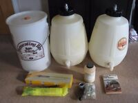 Large amount of Beer, Cider Homebrew Kit. Includes 2 x 5 Gallon Pressuriseable Kegs.