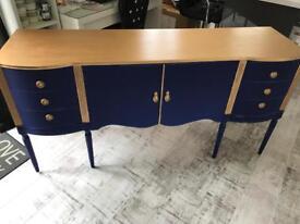 Blue/gold large sideboard