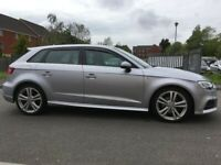 Silver AUDI A3 2.0 TDI S LINE 2016 FACELIFT MODEL Diesel Semi auto 150PS With 3 months Audi warranty for sale  Rhiwbina, Cardiff