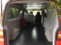 Camper van carpet lining and insulation
