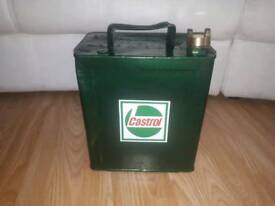 Vintage metal petroleum can
