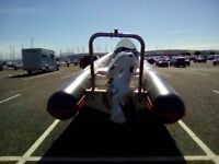 Valiant 5.8mtrs RIB new engine &trailer all paper work complete very clean grey avolone tubes red .