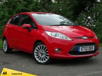 FORD FIESTA 1.6 TITANIUM 5d LOW MILEAGE,SERVICE HISTORY (red) 2012