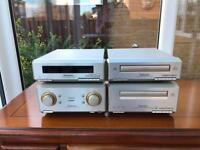 Technics SB HD-350 Hi-Fi System with Amplifier, Tuner, Cassette Deck, CD Player and Speakers.