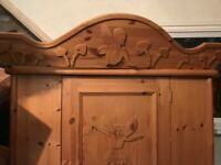 Childs hand carved Fairy wardrobe