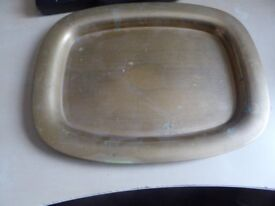 collectible old? solid brass tray