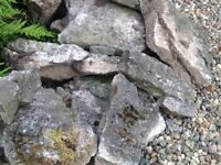 Quantity of limestone(?) suitable for rockery