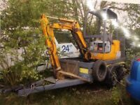 JCB Mini digger with trailer