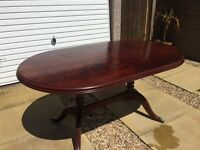 Mahogany Table & 4 Chairs