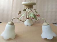 Ceiling light - metal floral lamp design diameter 50cm Drop 30cm