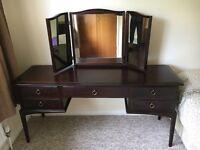Stag mahogany wood dressing table