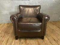 CHESTERFIELD STYLE LEATHER ARMCHAIR IN EXCELLENT CONDITION