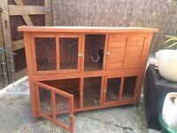 Used double storey rabbit hutch in good condition