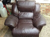 Leather Recliner and Massage Chair
