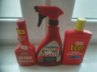 SET OF CAR/ENGINE TREATMENTS-STP PETROL TREATMENT, HALORDS ENGINE CLEANER AND T-CUT