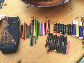O'Neill Pencil Case, Oil Pastels, Crayons, Coloured Pencils etc. £2.50, can post or collect from tor