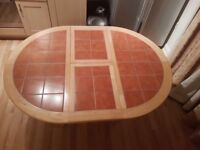 Light wood round table for sale