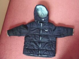 Next boys winter coat age 1.5 to 2 years £3