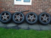 Mercedes, Audi, Volkswagen, Golf, 20 INCH Wheels white Tyres like New, 5x112, 275/40/20
