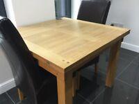 Solid Oak Flip Top Dining Table