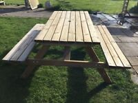 Genuine Rowlinson Picnic Table, Benches. New. Flatpack.