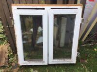 Wooden double glazed window 3' wide x 90cm high