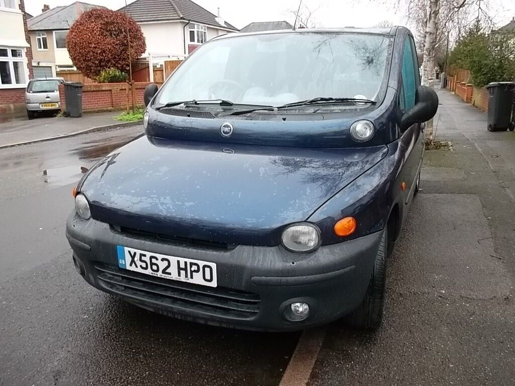 FIAT MULTIPLA 1.9 jtd elx 2000/X 2 PREVIOUS OWNERS 7 service stamps, new MOT