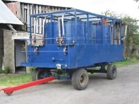 Trailer with water tanks