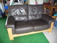 Dark brown two seater settee / Quick sale wanted