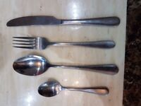 Stainless Steel Branded Cutlery, heavy s steel.