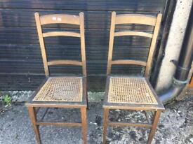 Set of 2 Wooden Dining Chairs