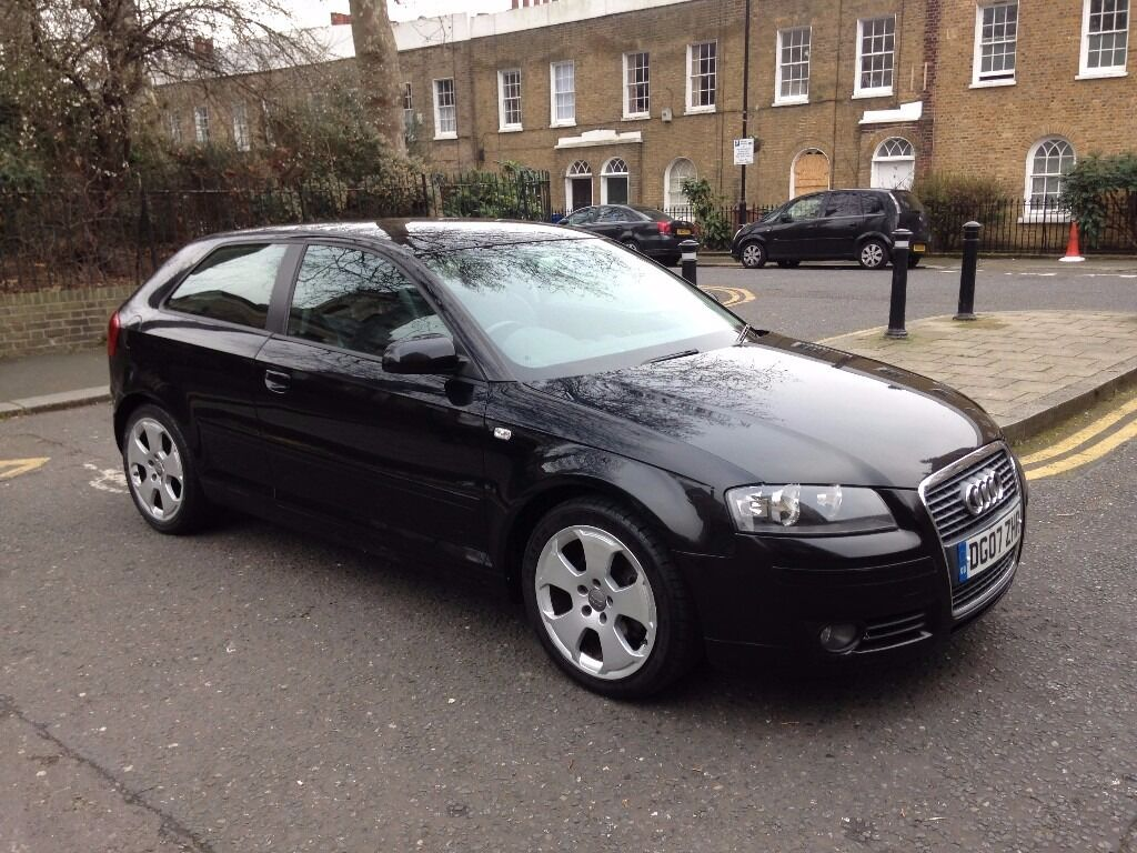 2007 audi a3 sport tdi black s line interior fsh mot. Black Bedroom Furniture Sets. Home Design Ideas