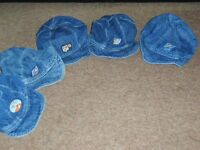 sunhats 0-3, 3-9, top 6-9 and 6-12 next row, 12-18 and 2 years bottom row £1 each or £4.50 the lot