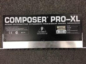 Behringer Composer Pro-XL MDX2600 Dynamic Processor (2 Channel Expander/Gate, Compressor/Limiter)