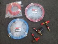 "BOC oxygen and acetylene hose 5m x 6.3mm x 0.25"" and gas regiulators"