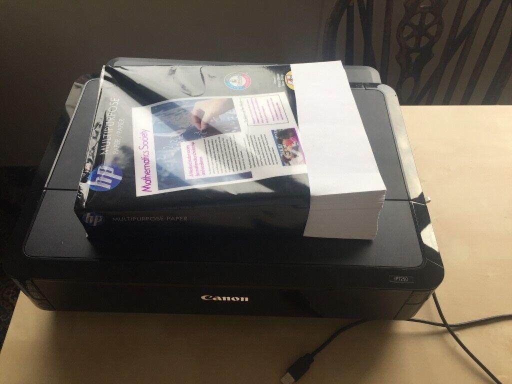 Canon Pixma ip7250 Wireless Inkjet Photo Printer w/ Ink, Paper - Working  Order