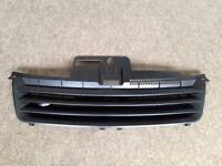 VW POLO BLACK DEBADGED SPORTS BONNET GRILL FOR 9N 2001 - 2005