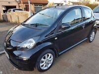 Toyota Aygo Black, 1 year MOT, TAX 20, mint condition