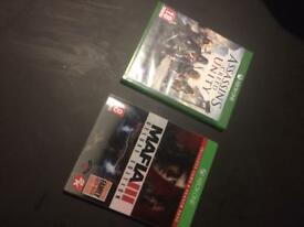 Xbox one Mafia 3 and ACU