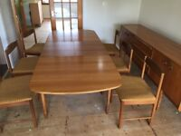 McIntosh Extending Dining Table & 6 Chairs & Sideboard Retro Vintage