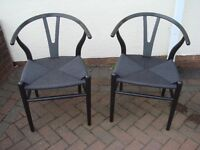 BLACK CHAIRS - set of 2 (BRAND NEW)