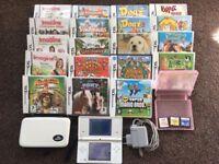 White Nintendo DS Lite bundle in excellent condition