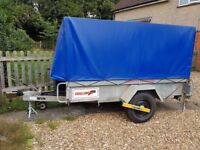 8x5 Trailer with Lockable Top Suite Motorcycles/ Stationary or Model Engines Etc.