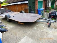 TRAILER (Caravan Chassis with jockey wheel, lights, spare wheel)