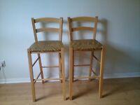 2 John Lewis bar chairs - £22 each