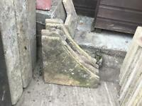 4 curved slab corners , possible free delivery