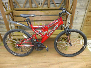 Sabre Kinetic Bicycle 18 Gear Ready To Ride Dual Suspension 26 Wheels & Lock & Cover In Slough Area*