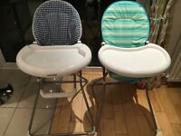 2 high chairs immaculate condition